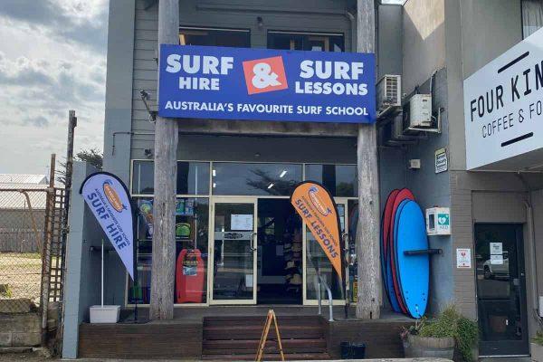 Anglesea surf hire shop