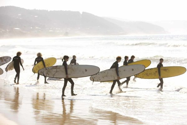 Lorne learn to surf