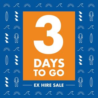 3 more sleeps peeps, until the big sale. Doors open at 9am and we will see you there!!!! #surf #surfing #surflessons #surfboards