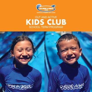 """KIDS CLUB  A fun and inclusive program that caters for children age 6-13 years who otherwise would be stuck at home due to Covid restrictions.  + Each day includes 2 activities (Surfing + 1 other) + Qualified and experienced staff + 1:6 staff to kids ratio + All equipment provided  Activities include: - Surfing - Bodyboarding - Surf Safety - SUP - Kayak - Initiative and Beach Games  BOOK ONLINE (go to """"book now"""" on our website).  $60 per day  Ocean Grove - Anglesea - Torquay - Lorne  #gorideawave #visitsurfcoast #surf #kids #groms #holidays #schoolholidays #surfschool #surfclub #fun #wave #beach #games #play #greatoceanroad #homeschooling #adventurekids"""